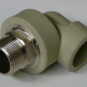 FIRAT углы 90° комбинированный, наружная резьба, PPR, PN25