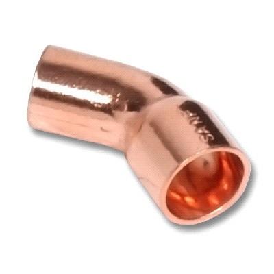 SANHA Отвод 45⁰ однораструбный, медь, соединение под пайку, артикул 5040