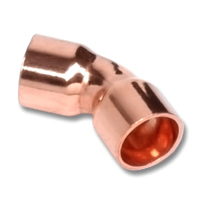 SANHA Отвод 45⁰ двухраструбный, медь, соединение под пайку, артикул 5041