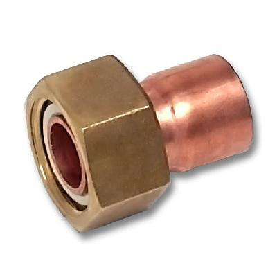 SANHA Муфта с накидной гайкой, медь/латунь, соединение пайка/внутренняя резьба, артикул 5359g