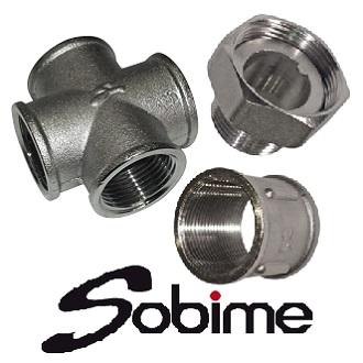Фитинги латунные никелированные SOBIME резьбовые