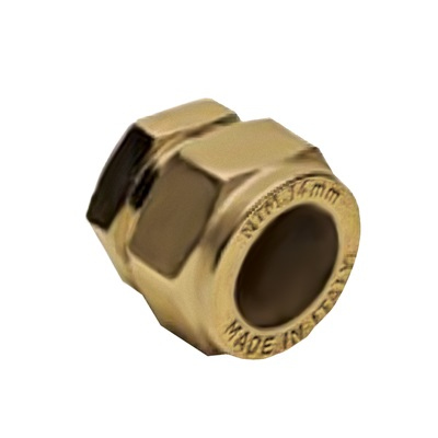 NTM Заглушка-колпак компрессионная, латунь, соединение обжим, артикул 235H